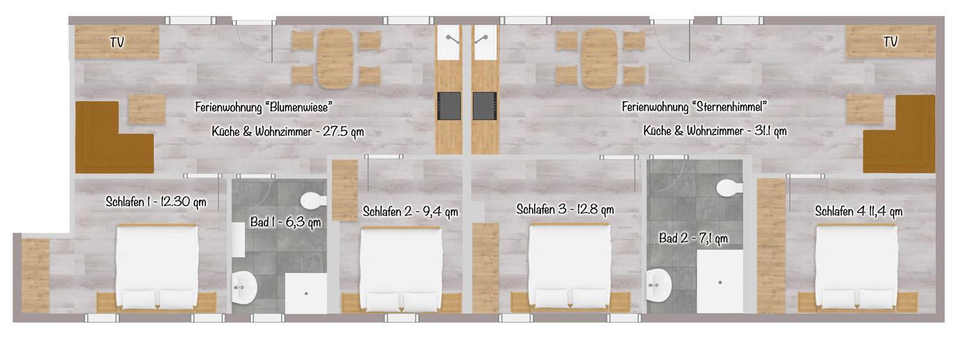 Preuschens-Hof Grundriss